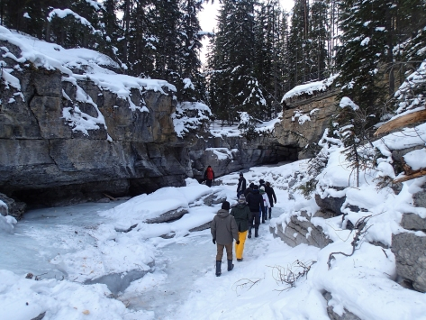 Walking on water at Maligne Canyon