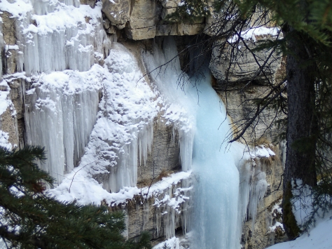 15/12/12 - One of a few frozen 20+ metre waterfalls at Maligne Canyon